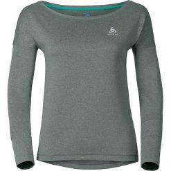 """Koszulka """"Tebe"""" w kolorze szaro-zielonym do biegania. Szare topy sportowe damskie Odlo, xl, z materiału, z długim rękawem. W wyprzedaży za 152,95 zł."""