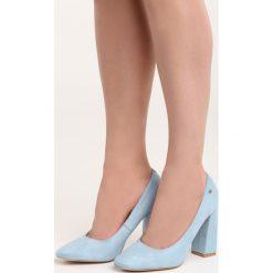Niebieskie Czółenka Take No More. Niebieskie buty ślubne damskie Born2be, na wysokim obcasie, na słupku. Za 79,99 zł.