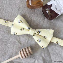 Bzzt. Mucha w pszczoły i plastry miodu. Szare muchy męskie marki Mayoral, l, z bawełny, z klasycznym kołnierzykiem. Za 69,00 zł.