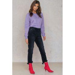 Boyfriendy damskie: IVY Krótkie jeansy Ree - Black