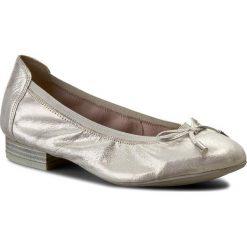 Baleriny CAPRICE - 9-22166-28 Offwht Glitter 116. Szare baleriny damskie marki Caprice, z materiału. W wyprzedaży za 159,00 zł.