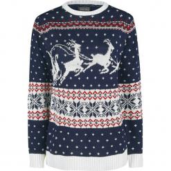 Ugly Christmas Sweater Santa Claus Is Coming Sweter z dzianiny niebieski. Niebieskie swetry klasyczne damskie Ugly Christmas Sweater, l, z dzianiny. Za 121,90 zł.