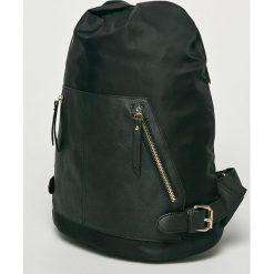 Answear - Plecak. Czarne plecaki damskie ANSWEAR, z materiału. W wyprzedaży za 79,90 zł.