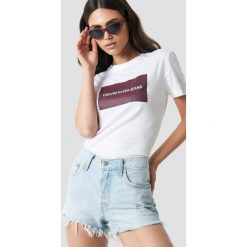 T-shirty damskie: Calvin Klein T-shirt Institutional Box Slim Fit - White