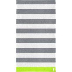 """Kąpielówki męskie: Ręcznik plażowy """"Albatros"""" w kolorze szaro-białym"""