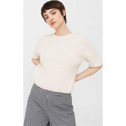Mango - Sweter Piruleta. Szare swetry klasyczne damskie marki Mango, l, z bawełny, z okrągłym kołnierzem. W wyprzedaży za 69,90 zł.