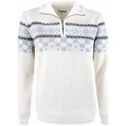 Kama Sweter Damski Merino 5007 S Naturalnie Biały. Białe swetry klasyczne damskie Kama, s, z wełny, z dekoltem woda. Za 565,00 zł.