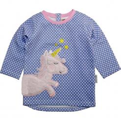 Koszulka w kolorze niebieskim. Niebieskie bluzki dziewczęce z długim rękawem Gelati, z aplikacjami, z dekoltem na plecach. W wyprzedaży za 49,95 zł.