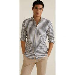 Mango Man - Koszula Kodak. Szare koszule męskie na spinki Mango Man, l, w paski, z bawełny, button down, z długim rękawem. Za 139,90 zł.