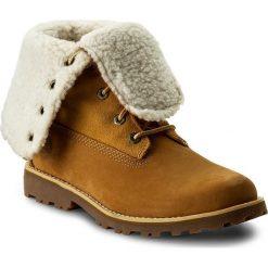 Trapery TIMBERLAND -  6 In Wp Shearling Bo A156N/TB0A156N2311 Wheat. Brązowe buty zimowe damskie marki Timberland, z gumy. W wyprzedaży za 369,00 zł.