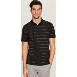 Koszule chłopięce: Koszula polo w paski – Czarny