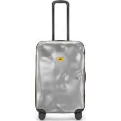 Walizka Icon średnia srebrna. Szare walizki marki Crash Baggage, z materiału. Za 1040,00 zł.