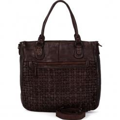 Skórzana torebka w kolorze brązowym - 31 x 33 x 10 cm. Brązowe torebki klasyczne damskie neropantera, w paski, z materiału. W wyprzedaży za 454,95 zł.