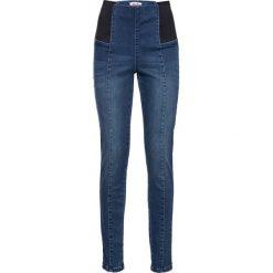Boyfriendy damskie: Dżinsy  modelujące sylwetkę JEGGINSY bonprix niebieski