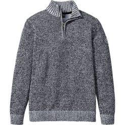 Golfy męskie: Sweter ze stójką Regular Fit bonprix czarno-biały melanż