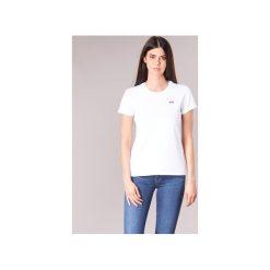 T-shirty z krótkim rękawem Levis  PERFECT TEE. Brązowe t-shirty damskie marki Levi's®, z obniżonym stanem. Za 89,00 zł.
