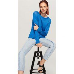 Sweter - Niebieski. Niebieskie swetry klasyczne męskie Reserved, l. Za 79,99 zł.