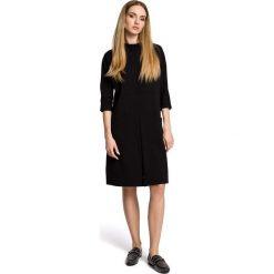 VIDA Sukienka oversize z dużymi kieszeniami i rozcięciem na dole - czarna. Niebieskie sukienki marki bonprix, na spacer, na lato, w koronkowe wzory, z bawełny, dopasowane. Za 129,99 zł.