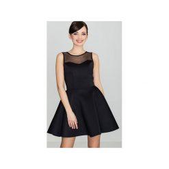 Sukienka K238 Czarny. Czarne sukienki na komunię marki Lenitif, l, bez rękawów, dopasowane. Za 139,00 zł.