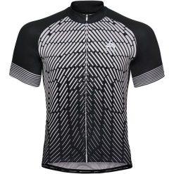 Odlo Koszulka rowerowa Stand-up collar s/s full zip Fujin Print czarna r. XL (411442). Odzież rowerowa męska Odlo, m. Za 238,18 zł.