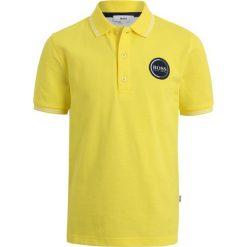 Bluzki dziewczęce bawełniane: BOSS Kidswear LOGO RUND Koszulka polo gelb