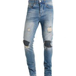 Mennace Jeansy Slim Fit vintage blue. Niebieskie rurki męskie Mennace. Za 269,00 zł.