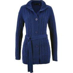 Długi sweter rozpinany bonprix kobaltowy. Szare kardigany damskie marki Mohito, l. Za 109,99 zł.