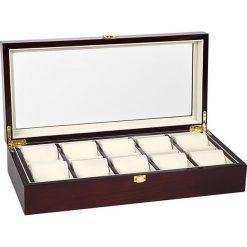 Zegarki męskie: Pudełko w kolorze brązowym na zegarki – 45,6 x 9,8 x 21,7 cm
