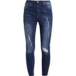 Even&Odd Jeans Skinny Fit dark blue denim. Niebieskie rurki damskie Even&Odd. Za 129,00 zł.