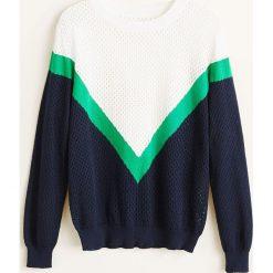 Mango - Sweter Calabri. Szare swetry klasyczne damskie Mango, l, z bawełny, z okrągłym kołnierzem. Za 119,90 zł.