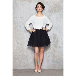 Minispódniczki: Czarna Szeroka Spódnica Mini z Tiulu na Gumie