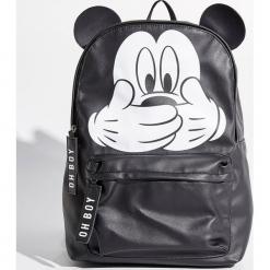 Plecak Mickey Mouse - Czarny. Czarne plecaki damskie Sinsay, z motywem z bajki. W wyprzedaży za 49,99 zł.
