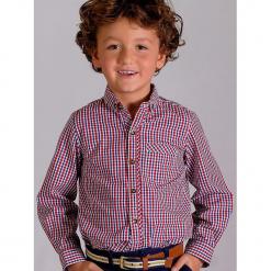"""Koszula """"Austin"""" w kolorze czerwono-niebieskim. Czerwone koszule chłopięce Paglie, New G.O.L & more, w kratkę, z bawełny, button down. Za 75,95 zł."""