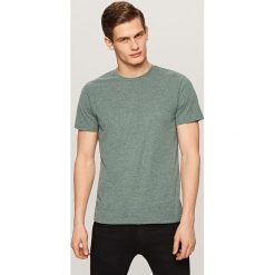 Melanżowy t-shirt - Turkusowy. Białe t-shirty męskie marki Reserved, l, z dzianiny. Za 29,99 zł.