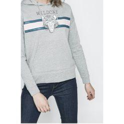 Noisy May - Bluza. Szare bluzy z kapturem damskie marki Noisy May, l, z nadrukiem, z bawełny. W wyprzedaży za 79,90 zł.
