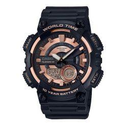Zegarek Casio Męski AEQ-110W-1A3VEF DataBank. Czarne zegarki męskie CASIO. Za 224,99 zł.