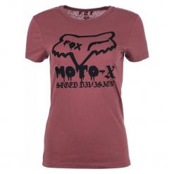 FOX T-Shirt Damski Drips Crew Xs Burgund. Czerwone t-shirty damskie FOX, xs, z nadrukiem. Za 117,00 zł.