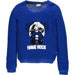 Mek - Sweter dziecięcy 128-170 cm. Niebieskie swetry dziewczęce Mek, z dzianiny, z okrągłym kołnierzem. W wyprzedaży za 159,90 zł.