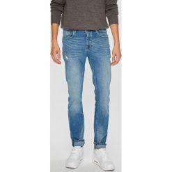 Review - Jeansy Simon. Niebieskie jeansy męskie slim Review. W wyprzedaży za 149,90 zł.