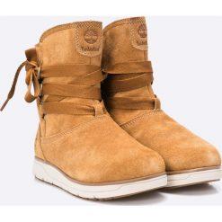Timberland - Botki Leighland Pull On. Czarne buty zimowe damskie marki Timberland, z materiału. W wyprzedaży za 399,90 zł.