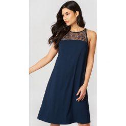 Sukienki hiszpanki: Samsoe & Samsoe Krótka sukienka Bina – Blue,Navy