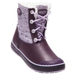 Keen Buty Zimowe Elsa Boot Wp Jr Plum/Lilac Pastel Us 5 (37 Eu). Brązowe buciki niemowlęce marki Keen, na zimę, z materiału. W wyprzedaży za 249,00 zł.