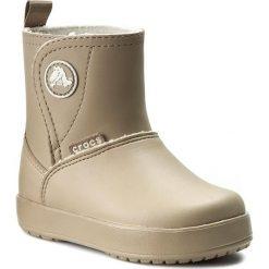 Kozaki CROCS - Colorlite Boot Ps 15840 Tumbleweed/Oatmeal. Brązowe kozaki damskie sznurowane marki Crocs, z tworzywa sztucznego, za kostkę. W wyprzedaży za 199,00 zł.