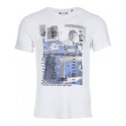 T-shirty męskie: Mustang T-Shirt Męski L Biały
