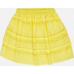 Mayoral - Spódnica dziecięca 128-167 cm. Żółte spódniczki dziewczęce Mayoral, z materiału, mini. Za 129,90 zł.