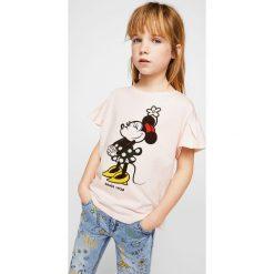 Mango Kids - Top dziecięcy Minniep 110-164 cm. Szare bluzki dziewczęce Mango Kids, z nadrukiem, z bawełny, z okrągłym kołnierzem. Za 59,90 zł.