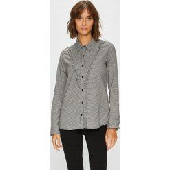 Answear - Koszula. Szare koszule damskie w kratkę marki ANSWEAR, l, z bawełny, casualowe, z klasycznym kołnierzykiem, z długim rękawem. W wyprzedaży za 59,90 zł.