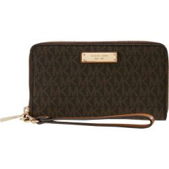 Portfele damskie: MICHAEL Michael Kors JET SET ITEM FLAT CASE Portfel brown