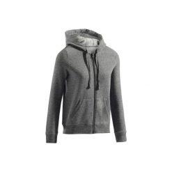Bluza na zamek z kapturem Gym & Pilates 520 damska. Czarne bluzy rozpinane damskie marki DOMYOS, xl, z bawełny, z kapturem. Za 64,99 zł.