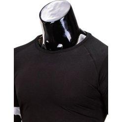 T-shirty męskie: LONGSLEEVE MĘSKI BEZ NADRUKU L65 – CZARNY/BIAŁY